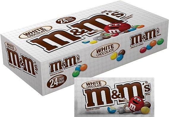 Amazon Com M M S White Chocolate 1 5oz Box Of 24 Grocery Gourmet Food