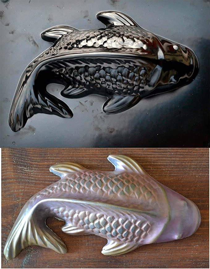 Bass fish plastic mold plaque rapid set cement all mould