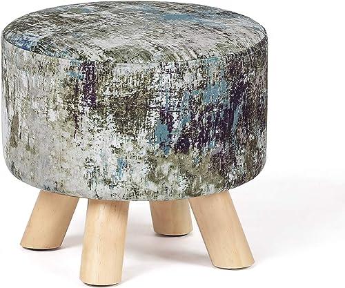 """Edeco 11.2"""" Modern Round Ottoman Foot Rest Stool/Seat Pouf Ottoman"""