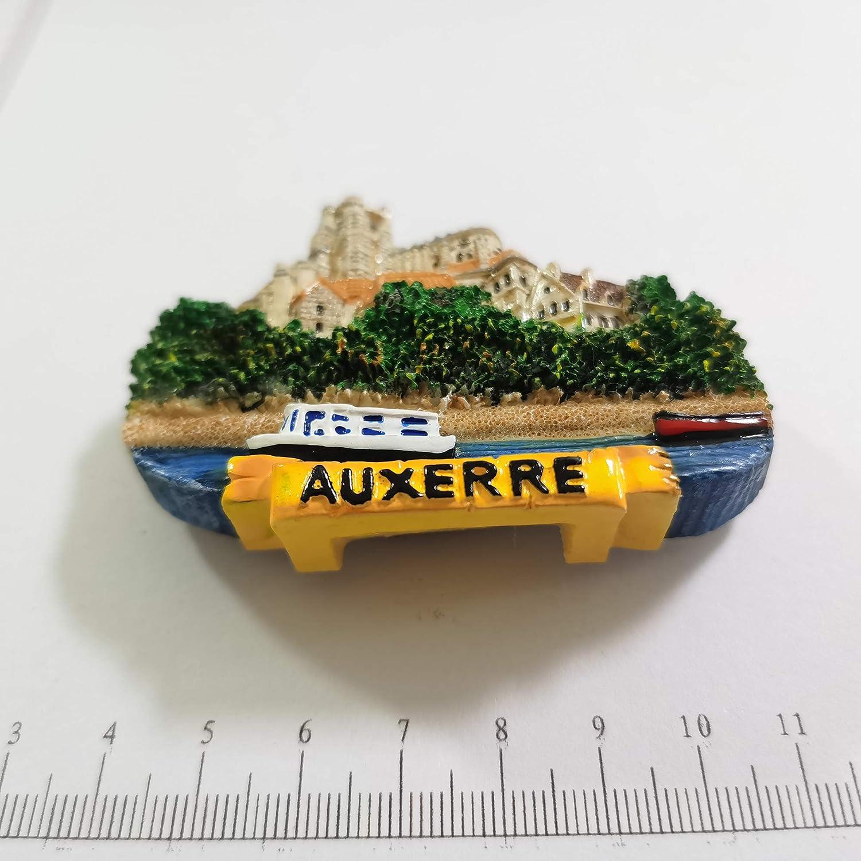 fatto a mano idea regalo souvenir da viaggio Auxerre France 3D magnete per frigorifero in resina decorazione per la casa e la cucina