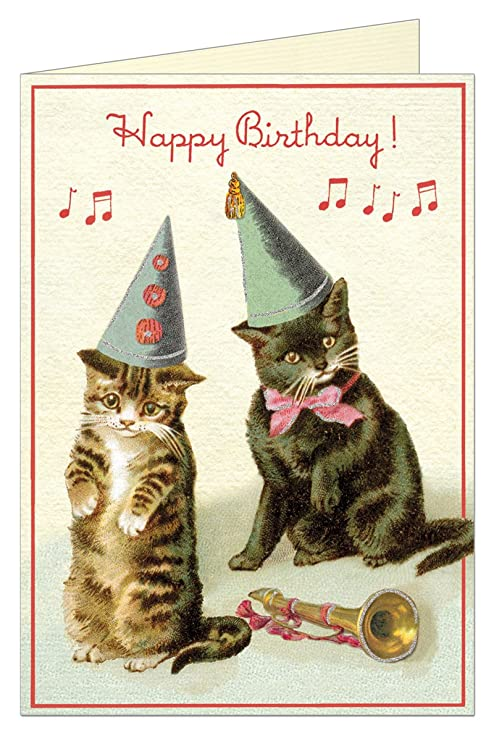 Amazon Happy Birthday Cats Greeting Card With Envelope Office Products