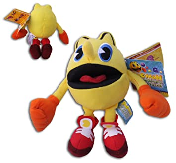 Pac Man 17cm Peluche Pac-Man Aventuras Fantasmales Dibujos Animados TV Muñeco Videojuego Comecocos Nuevo