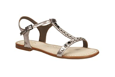 8bb4c66b06be42 Clarks Womens Smart Clarks Sail Festival Synthetic Sandals In Grey ...