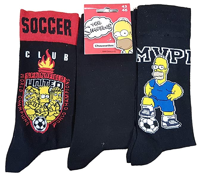 Simpsons–Calcetines para hombre modelo Photo según arrivage.https://amzn.to/2zFoh7j