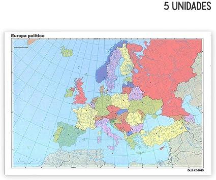 EA4505 - Mapas mudos de España y de Europa, mapas físicos y ...