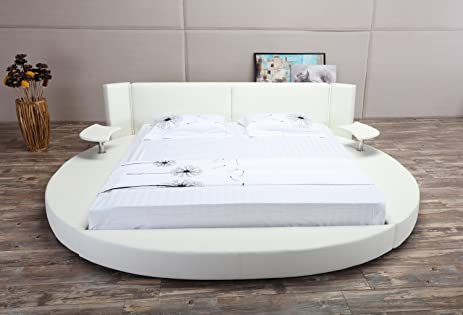 Amazoncom OsloX Round Bed King Size White Kitchen Dining