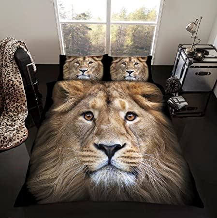 New 3D Animal Print Duvet Cover Set Bed Quilt Super King Size Double Single