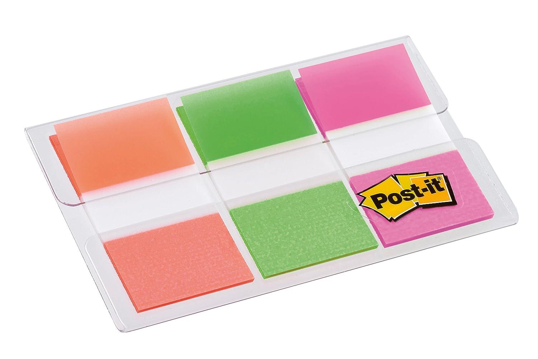 Post-It 936429-3blister x 20 índices de colores, color verde, naranja y rosa: Amazon.es: Oficina y papelería