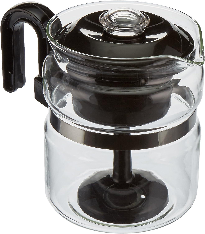 Euro-Ware Perco Mate - Percolador de bebidas calientes con 8 tazas de cristal, con salvamanteles de metal, transparente: Amazon.es: Hogar