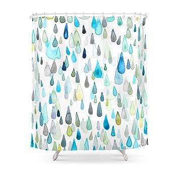 Society6 Raindrops Shower Curtain 71quot