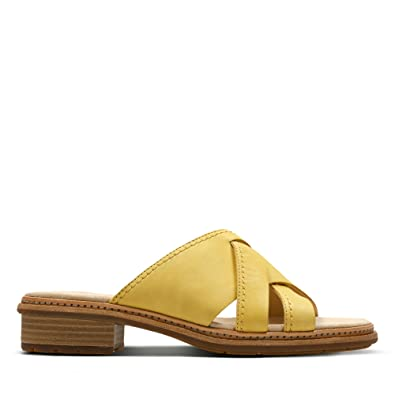 Clarks Trace Craft Leather Sandals in Yellow Standard Fit Size 8 ...