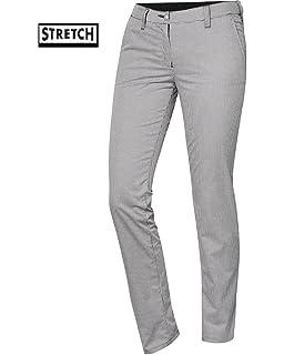 BP - Pantalon de Cuisine Femme Stretch-Chino- - 56, Carreaux Blanc ... 0f370a5b7952