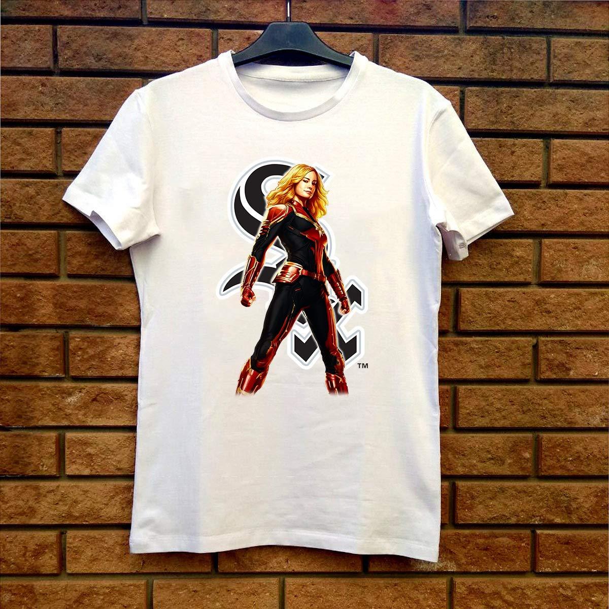 on sale 916b6 c74a6 Amazon.com: Captain Marvel Chicago-White-Sox Fan Gift T ...