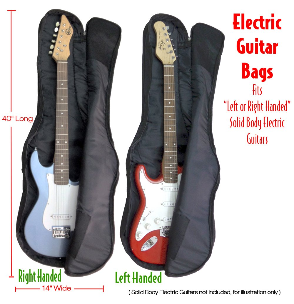 Performance Plus GBE360 Guitar Gig Bag Ballistic Grade Nylon for Most Solid Body Electric Guitars