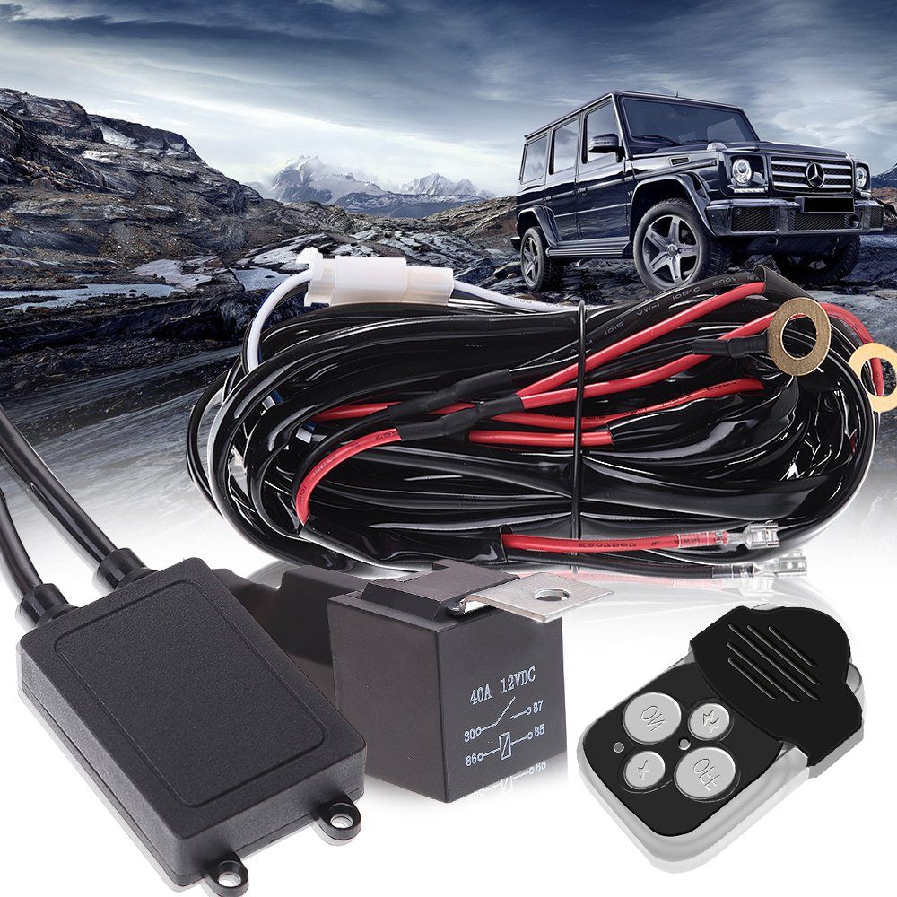 52 300w Led Work Lights Wiring Harness Kit Jeep Wrangler Arctic Cat Wildcat Can