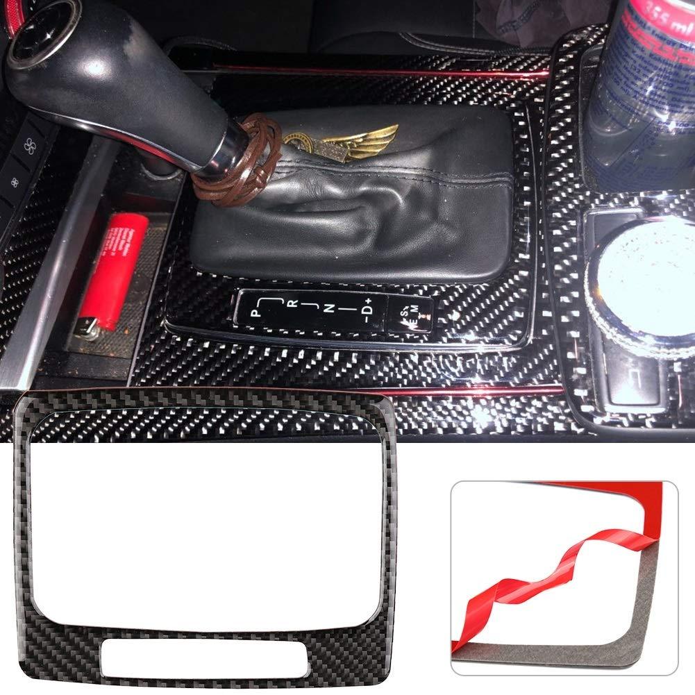 Vobor Abdeckung f/ür Schaltpaneel aus Kohlefaser Abdeckung f/ür Schaltpaneel f/ür Mercedes W204 2005-2012