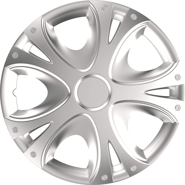 UKB4C 4x Wheel Trims Hub Caps 15 Covers fits Honda Jazz Civic Accord in Silver