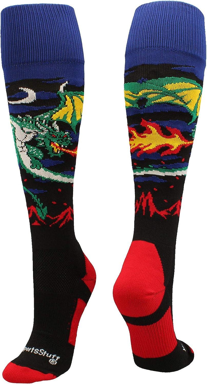 MadSportsStuff Medieval Dragon Over The Calf Athletic Socks