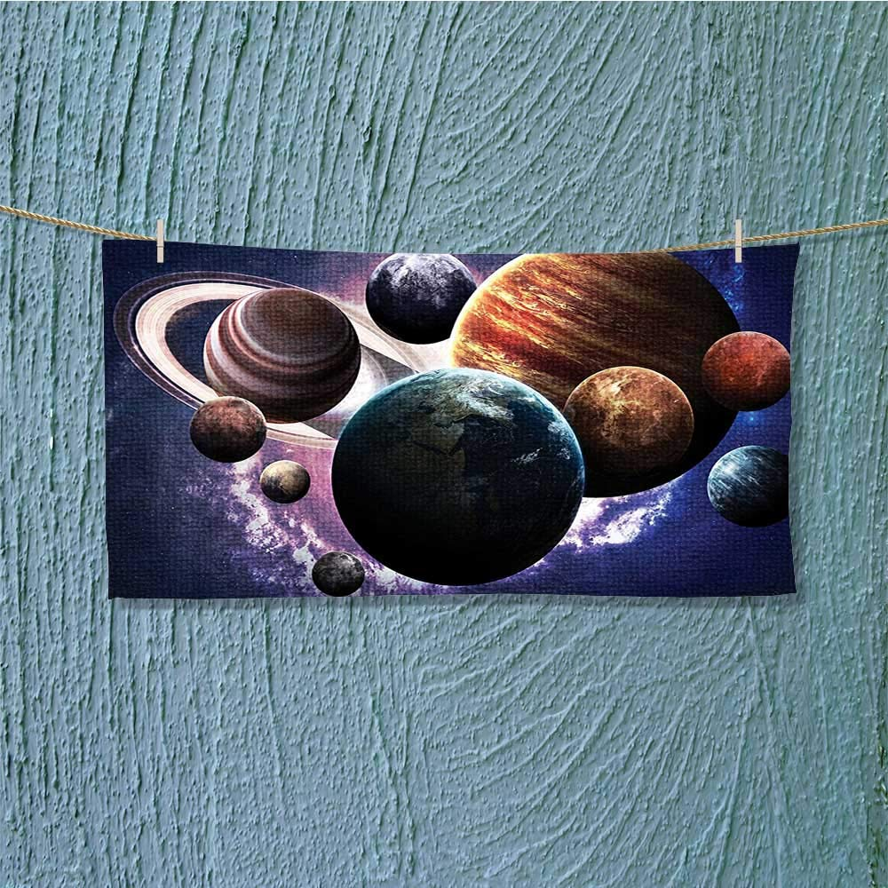 also easy Swim Towel Solar System Planets All Together in Mercury Jupiter Globe Saturn Universe Super Soft L35.4 x W11.8 inch