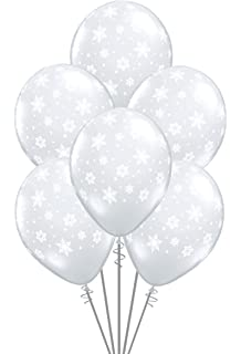 Qualatex Snowflakes A Round Biodegradable Latex Balloons Diamond Clear Color 11