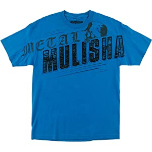 Metal Mulisha Mens Flight Short-Sleeve Shirt Small Turquoise
