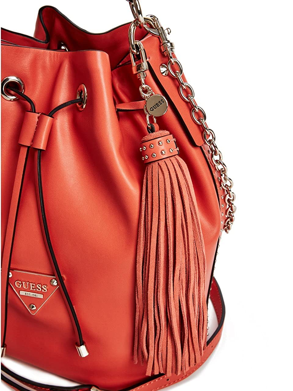 a44d329aed Amazon.com  GUESS Women s Thompson Drawstring Bucket Bag  Clothing
