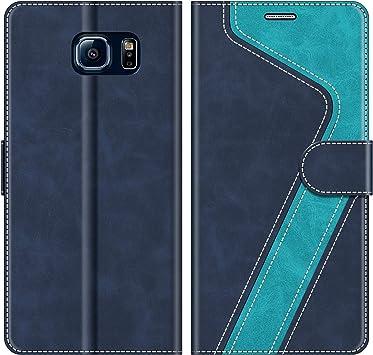 MOBESV Coque pour Samsung Galaxy S6, Housse en Cuir Samsung Galaxy S6, Étui Téléphone Samsung Galaxy S6 Magnétique Etui Housse pour Samsung Galaxy S6, ...