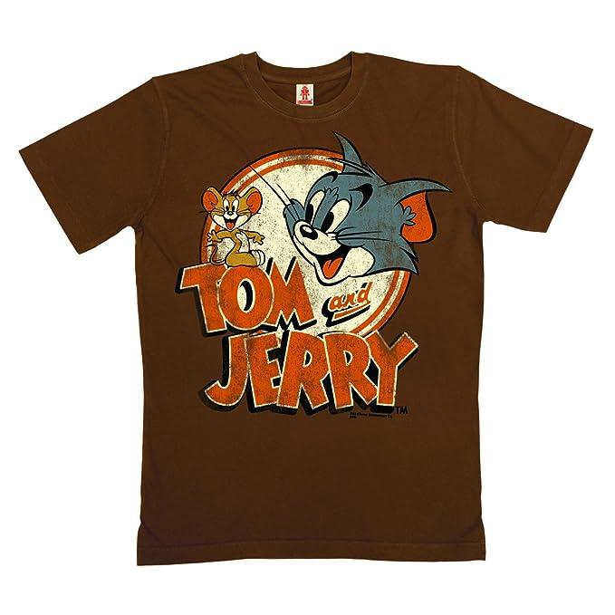 1d44d47a4 Logoshirt Tom y Jerry Logotipo Camiseta 100% algodón ecológico (Cultivo  ecológico) - Marrón