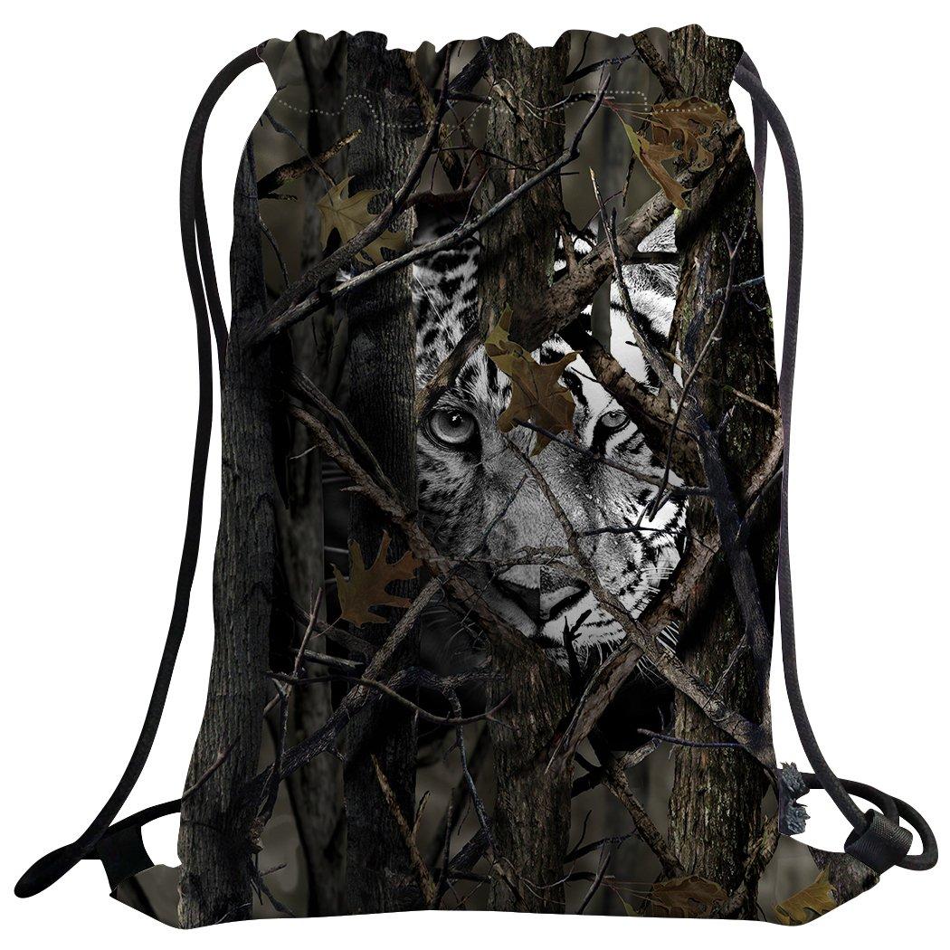 sxchenジムバッグ袋巾着スポーツバックパックBranch Camo Cheetah B07CKWT4C2