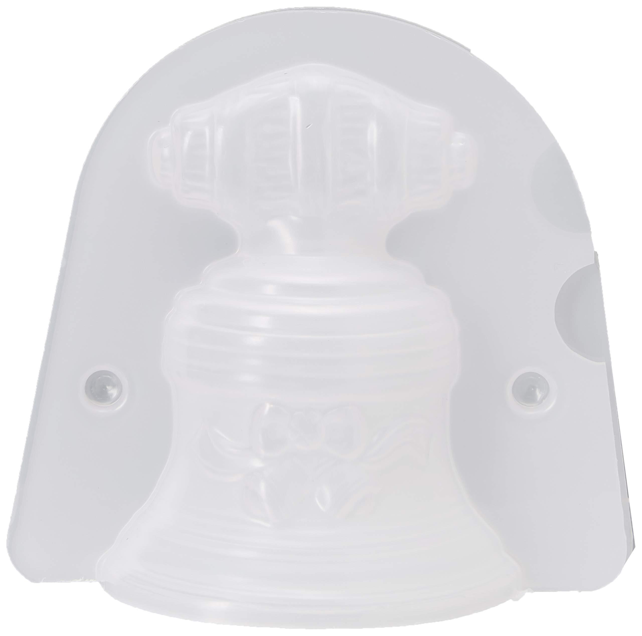Martellato MAC950S 1 Figure Bell Mould, 110 mm, Plastic, Transparent
