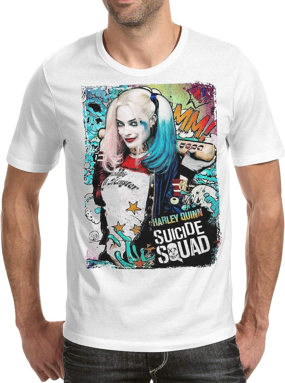 DibuNaif Camiseta Hombre - Unisex Superhéroe y Villanos - Harley Quinn