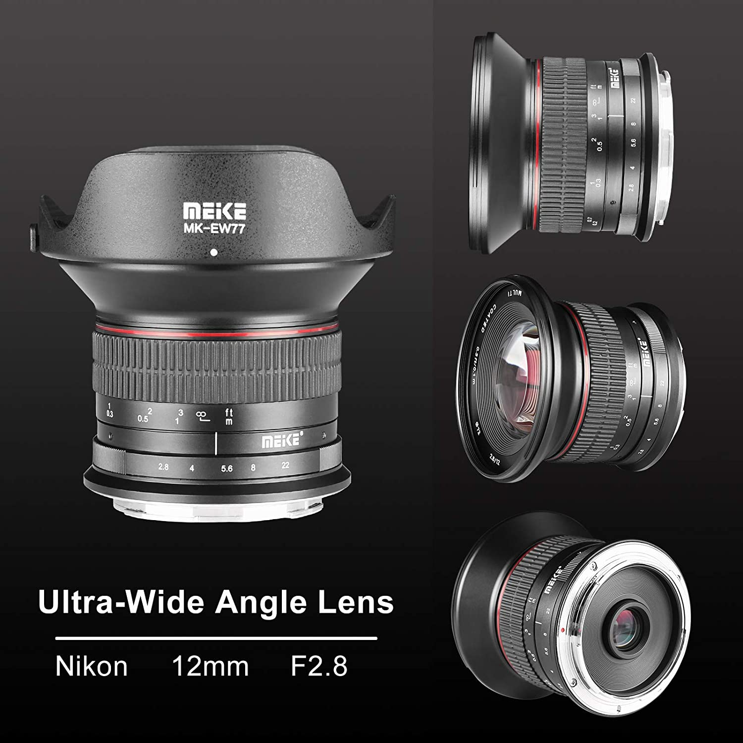 Meike 12mm f/2.8 APS-S Ultra Wide Angle Manual Fixed Lens with ...