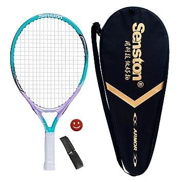 senston Raqueta de Tenis Unisex,Raqueta Tenis para Adulto/Niños,Incluido Bolsa de Tenis / 1 Grip / 1 Amortiguadores: Amazon.es: Deportes y aire libre