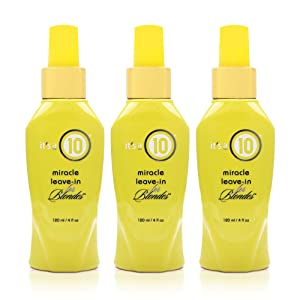 It's a 10 Haircare Miracle Leave-In Conditioner for Blondes, 4 oz. (Pack of 3)