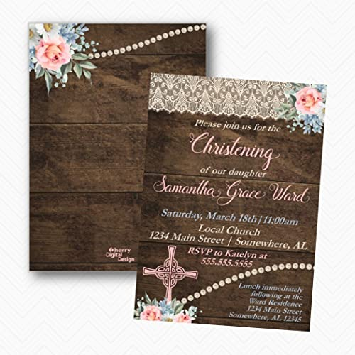 amazon com vintage lace tea rose rustic wood christening