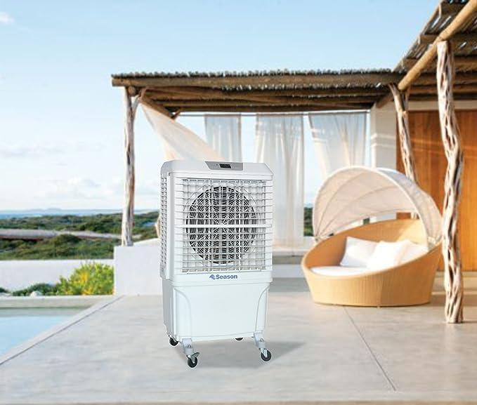 SEASON Climatizador nebulizador Ventilador SVE-8P evaporativo Gran caudal 8.000 m3/h 60 litros 3 velocidades terraza Bar jardín: Amazon.es: Hogar