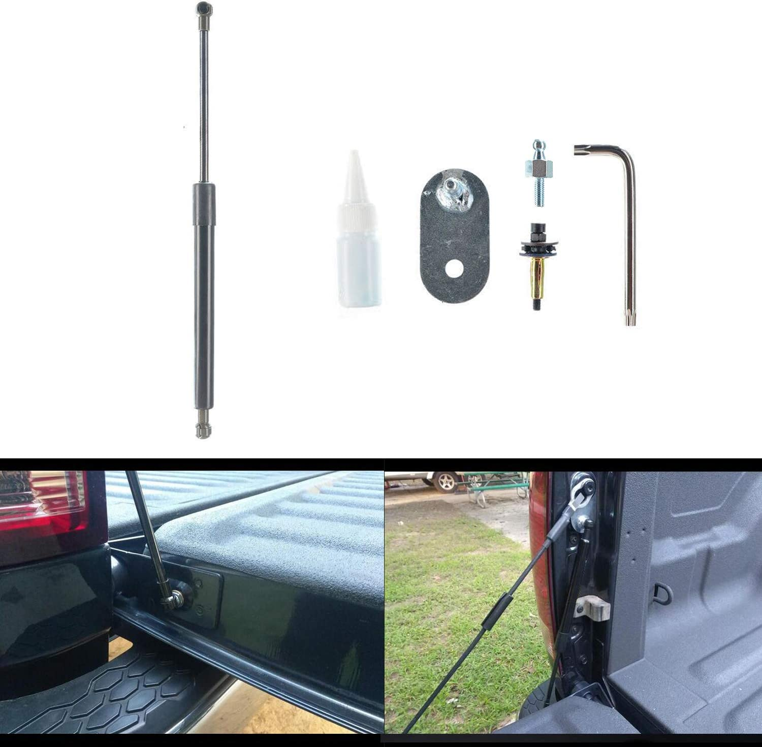 Dibanyou Tailgate Assist Lift Support Shock Strut for 1999-2016 Ford F150 F250 F350 F450