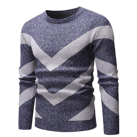 Suéter de Hombre Otoño Invierno Jersey de Punto Delgado Abrigo de ...