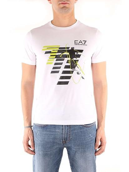 2736627888d4 Emporio Armani EA7 3ZPT48 T-Shirt Polo Shirt Men White XXX  Amazon.co.uk   Clothing