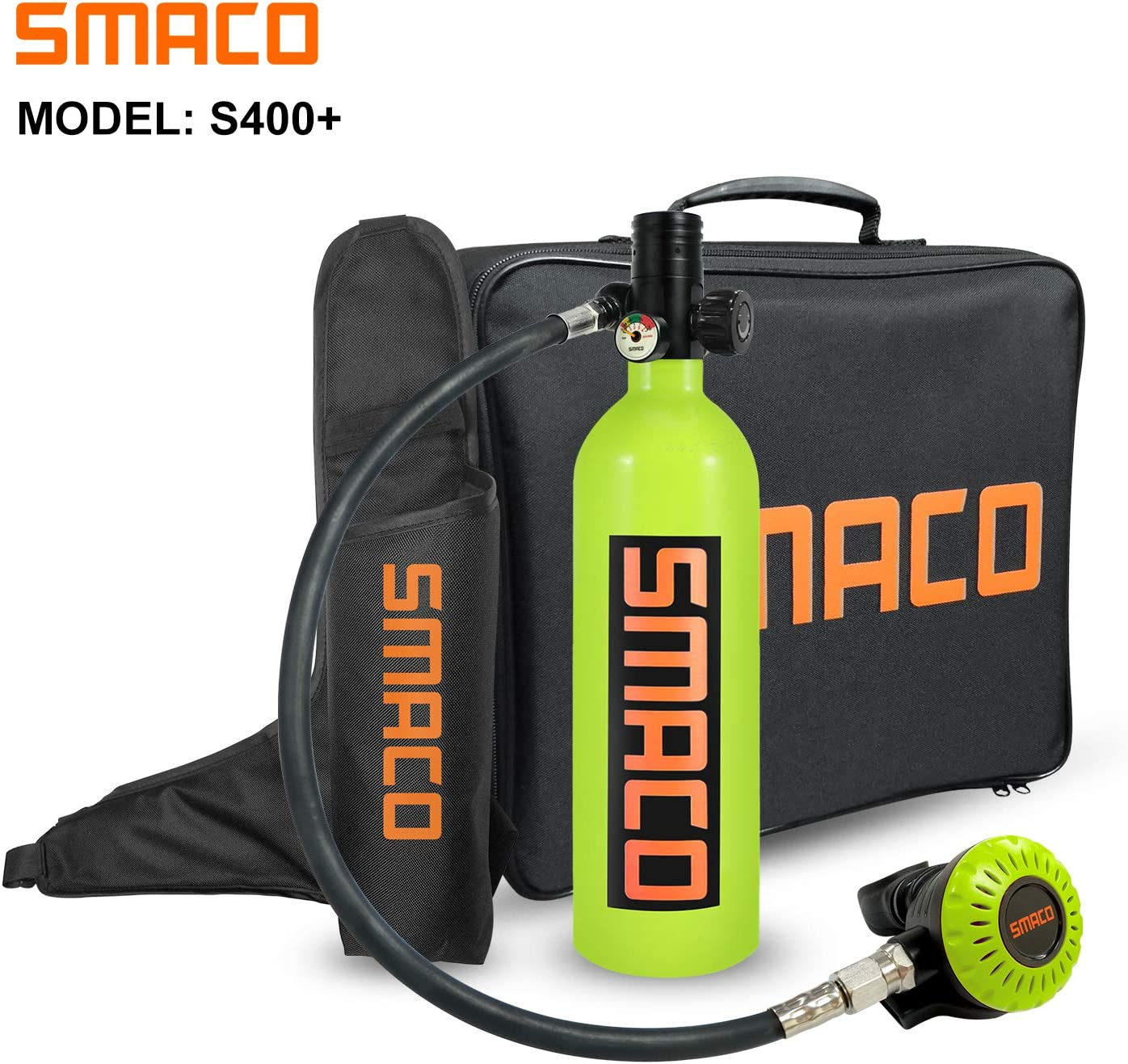 Packages Scuba Tank for Diving Oxygen Tank for Breathing Spare Air Diving Tank Dive Equipment Support 15-20 Minutes(340 Breathe Times) Mini Scuba Tank with Pump Scuba Diving Accessories S400