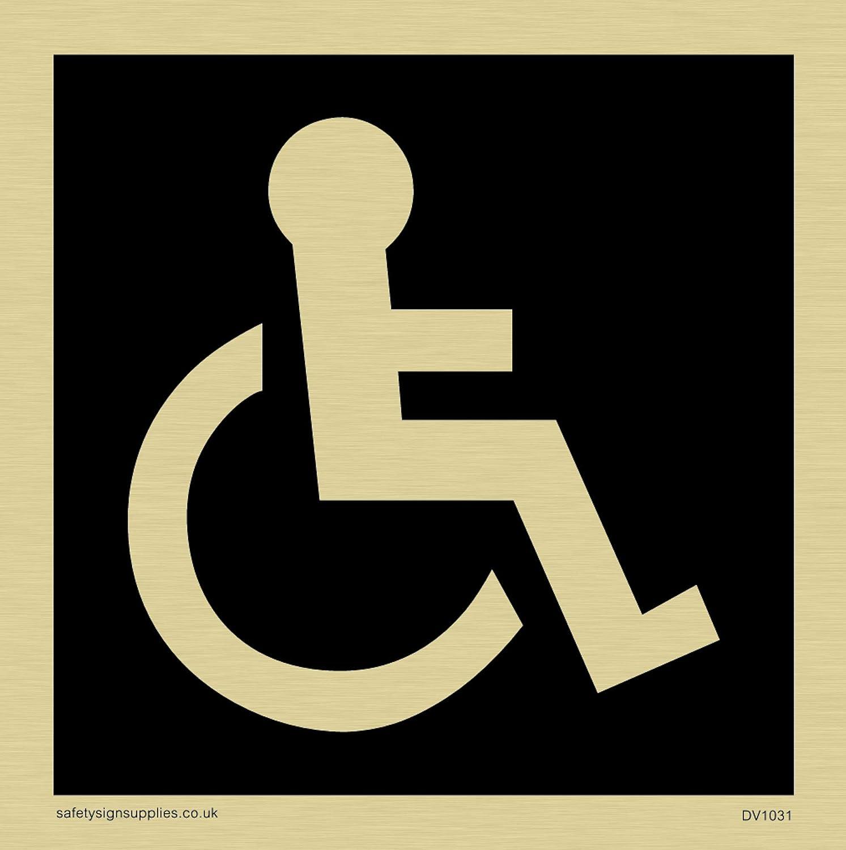 Viking signos dv1031-s85-gv discapacitados WC símbolo ...