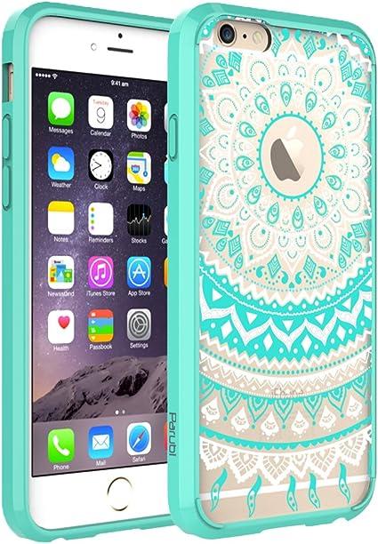 Cover iPhone 6, Cover iPhone 6s, Parubi Retro Totem Mandala Floral Hybrid, Cover Custodia Morbida Trasparente Protettiva in Silicone TPU Per iPhone 6 ...