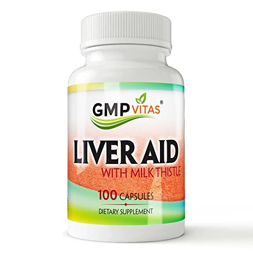 GMPVitas Premium Liver Support with Milk Thistle Supplements- Milk Thistle,Vitamin C & B - Support Liver Health & Function 100 Capsules (1)