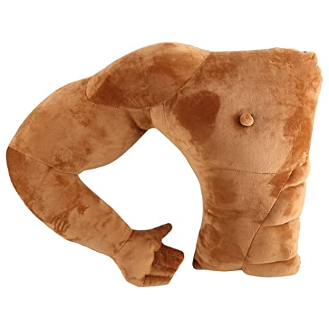 Novio hombre muscular brazo almohada hombre muscular cuerpo ...