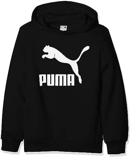 Puma Classic Hoody Sudadera con Capucha, Niños, Negro (Azul Brillante), 128