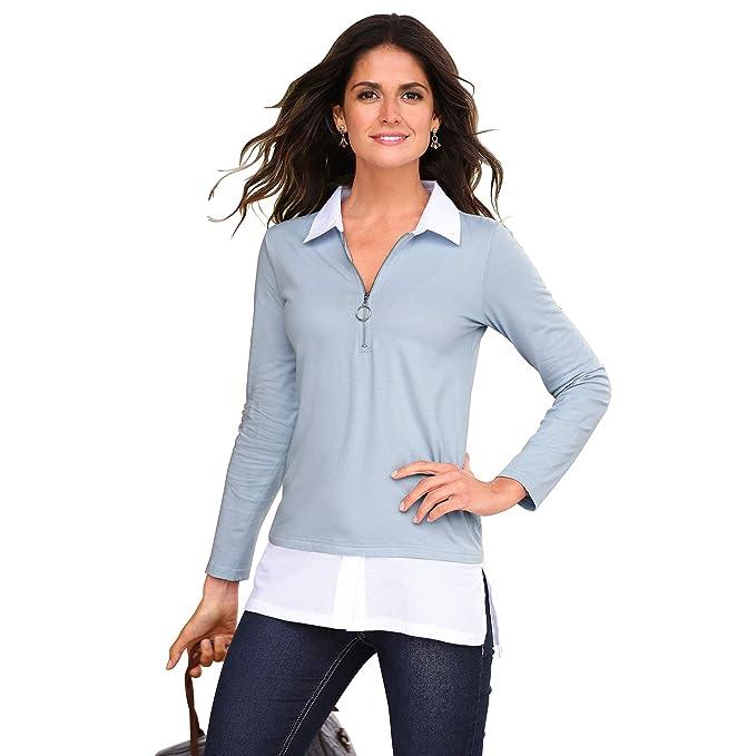 VENCA Camiseta Efecto Doble Mujer by Vencastyle - 018462: Amazon.es: Ropa y accesorios