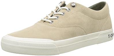 Herren Heritage Suede Sneaker, Beige (Sand 102), 43 EU Tommy Hilfiger