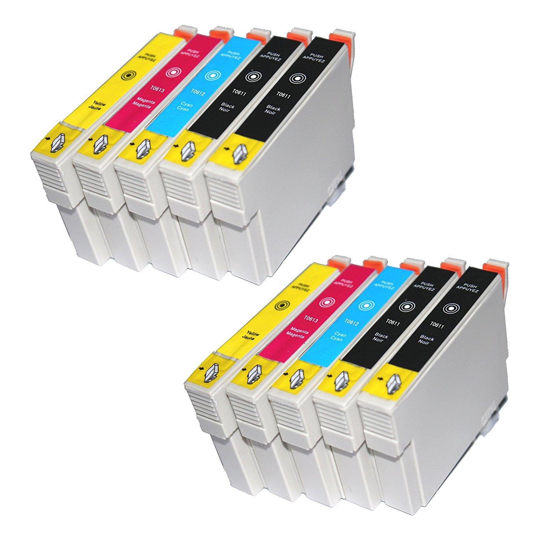 TiAN - 10 compatible Cartuchos de tinta reemplazar T0611 T0612 ...