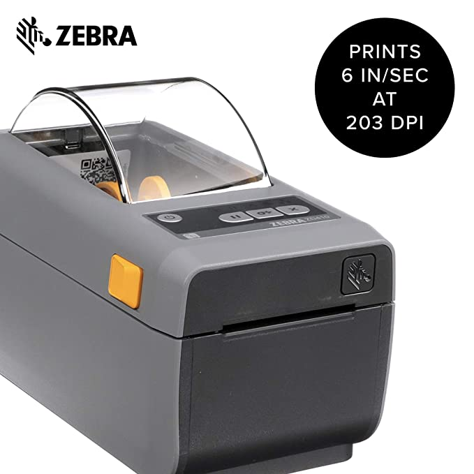 Zebra - ZD410 Wireless Direct Thermal Desktop Printer for Labels, Receipts,  Barcodes, Tags, and Wrist Bands - Print Width of 2 in - USB and Bluetooth