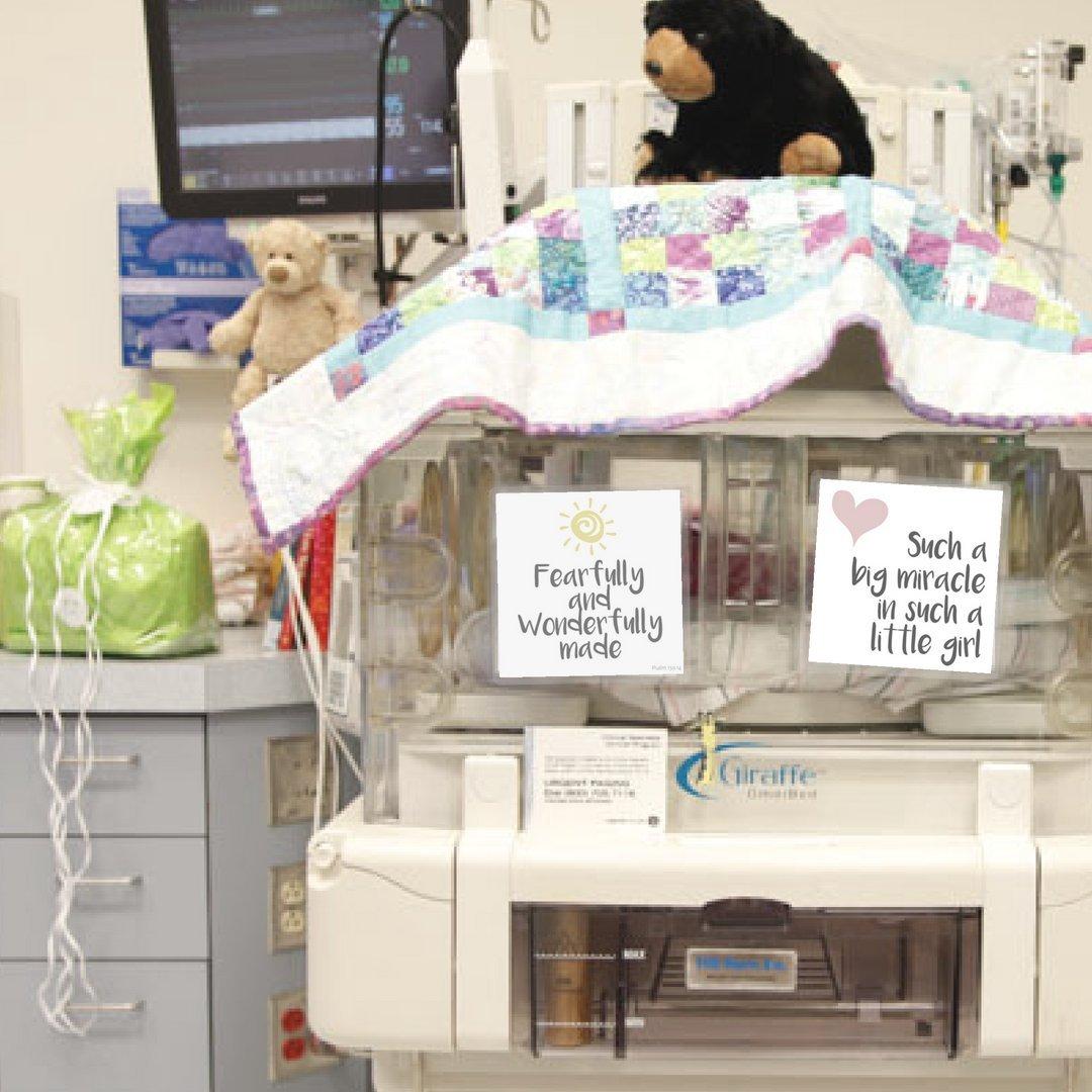 Amazon.com: Nicu cuna Art- decorar de tu bebé NICU espacio ...